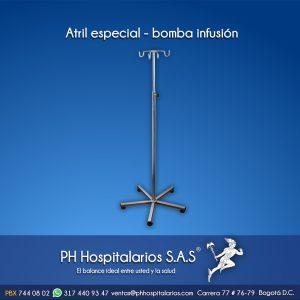 Atril especial - bomba infusión Muebles Hospitalarios Acero inoxidable - Pintura electroestática - Somos fabricantes