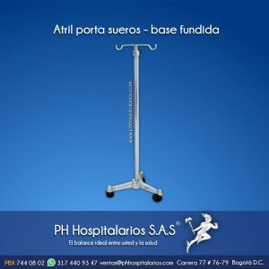 Atril Porta sueros - base fundida