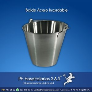 Balde Acero Inoxidable PH Hospitalarios