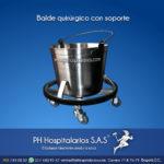 Balde quirúrgico con soporte Muebles Hospitalarios Acero inoxidable - Pintura electroestática - Somos fabricantes