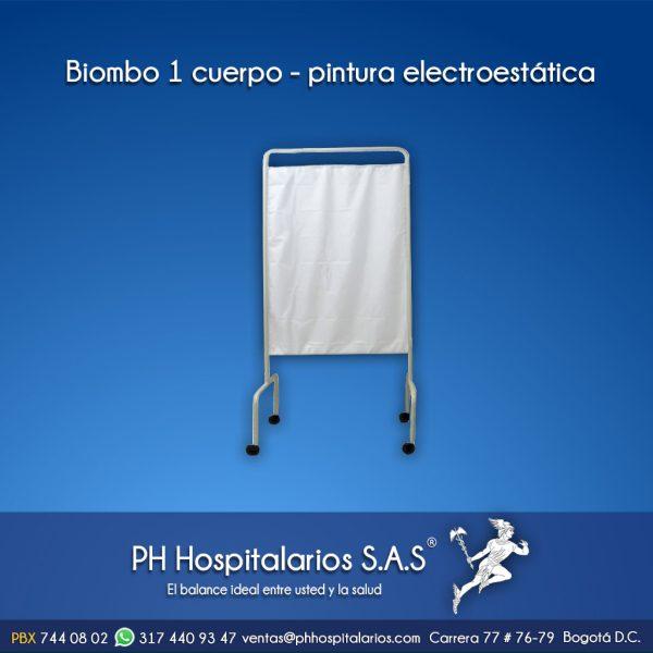 Biombo 1 cuerpo - pintura electrostática PH Hospitalarios