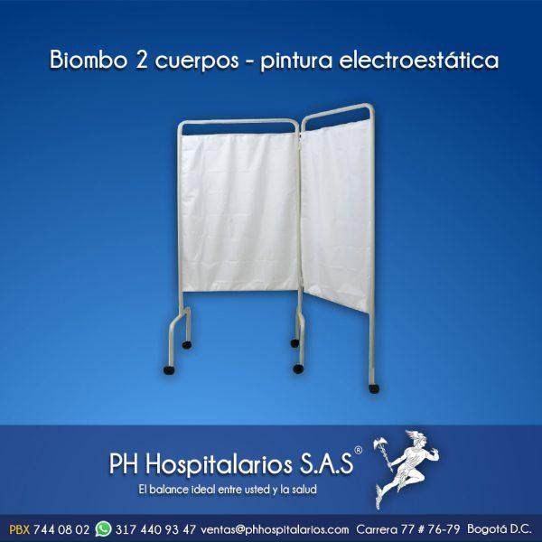 Biombo 2 cuerpos - pintura electroestática PH Hospitalarios