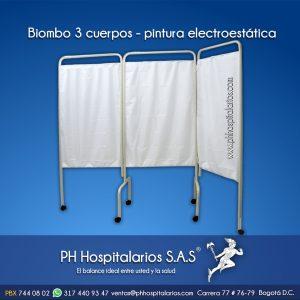Biombo 3 cuerpos - pintura electroestática PH Hospitalarios