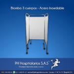 Biombo 3 cuerpos - Acero Inoxidable PH Hospitalarios
