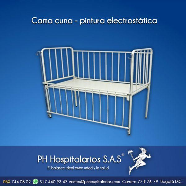 PH Hospitalarios cama cuna pintura electrostática