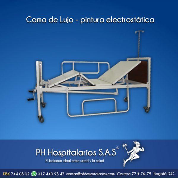 Cama de Lujo - pintura electrostática PH Hospitalarios