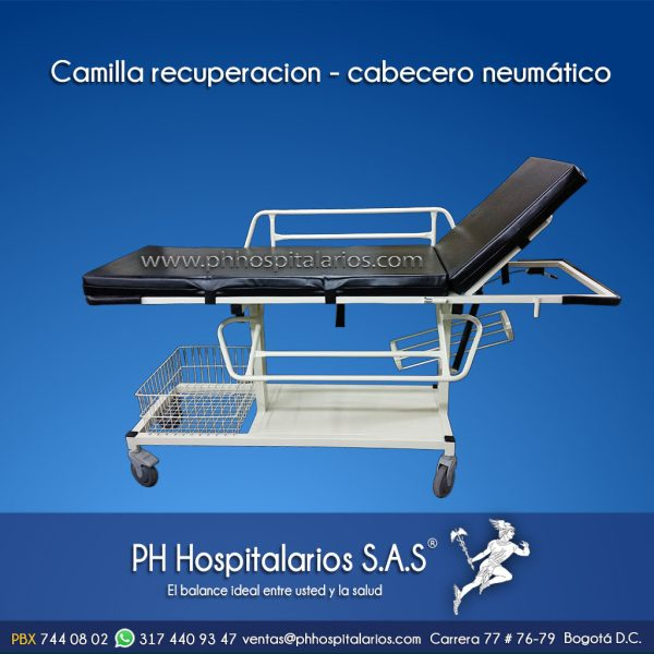 camilla de recuperacion cabecero neumático PH Hospitalarios