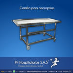 Camilla para necropsias Muebles Hospitalarios Acero inoxidable - Pintura electroestática - Somos fabricantes