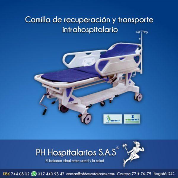 Camilla de recuperación y transporte intrahospitalario PH Hospitalarios