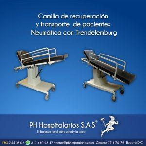 Camilla de recuperación y transporte de pacientes Neumática