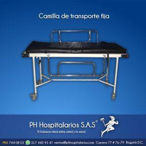 Camilla de transporte fija PH Hospitalarios