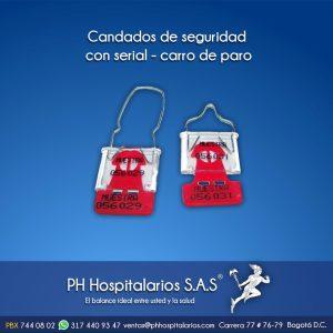 Candados de seguridad con serial PH Hospitalarios