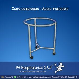 Carro compresero - Acero inoxidable Muebles Hospitalarios Acero inoxidable - Pintura electroestática - Somos fabricantes