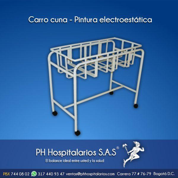 Carro cuna - Pintura electrostática PH Hospitalarios
