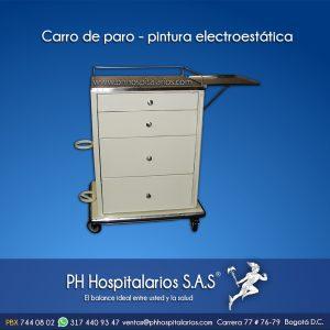 Carro de paro - pintura electrostática PH Hospitalarios