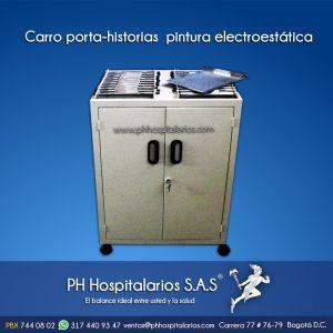 Carro porta-historias pintura electroestática PH Hospitalarios