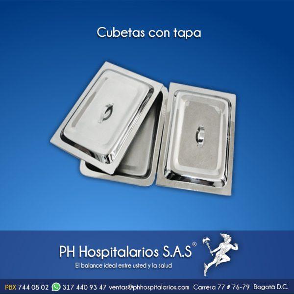 Cubetas con tapa PH Hospitalarios
