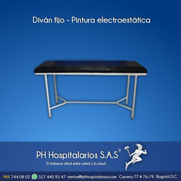 Diván fijo - Pintura electroestática Muebles Hospitalarios Acero inoxidable - Pintura electroestática - Somos fabricantes
