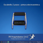Escalerilla 2 pasos - pintura electroestática - Muebles Hospitalarios Acero inoxidable - Pintura electroestática - Somos fabricantes