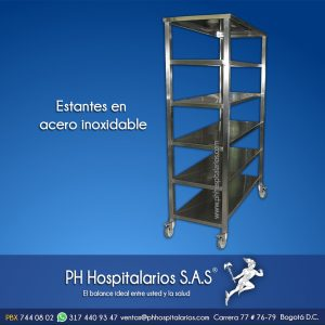 Estante en acero inoxidable PH Hospitalarios