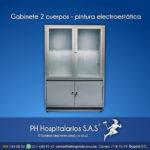Gabinete 2 cuerpos - pintura electrostática PH Hospitalarios