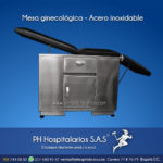 Mesa ginecológica - Acero inoxidable PH Hospitalarios