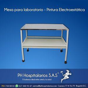 Mesa para laboratorio - Pintura Electrostática PH Hospitalario