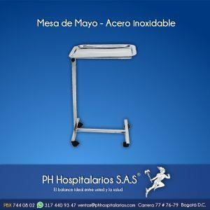 Mesa de Mayo - Acero inoxidable PH Hospitalarios