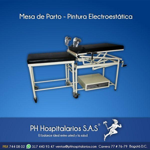 Mesa de Parto - Pintura Electroestática PH Hospitalarios