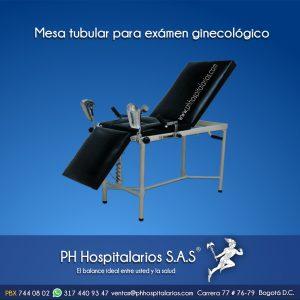 Mesa tubular para exámen ginecológico Muebles Hospitalarios Acero inoxidable - Pintura electroestática - Somos fabricantes