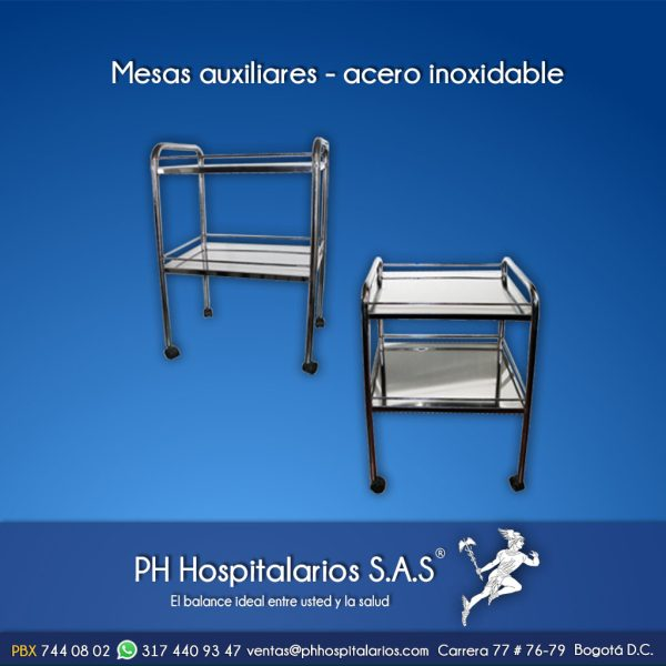 Mesas auxiliares - acero inoxidable PH Hospitalarios
