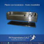 Mesón con lavamanos - Acero Inoxidable PH Hospitalarios
