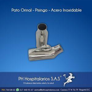 Pato Orinal - Pisingo - Acero Inoxidable PH Hospitalarios