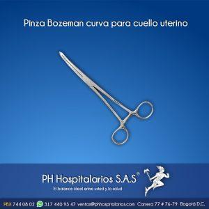 Pinza Bozeman curvapara cuello uterino PH Hospitalarios