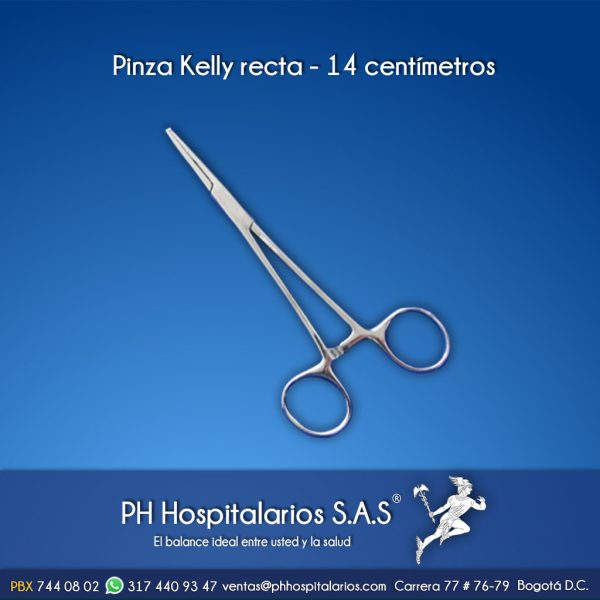 Pinza Kelly recta - 14 centímetros Muebles Hospitalarios Acero inoxidable - Pintura electroestática - Somos fabricantes