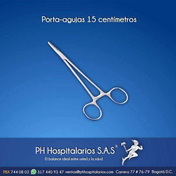 Porta-agujas 15 centímetros Muebles Hospitalarios Acero inoxidable - Pintura electroestática - Somos fabricantes
