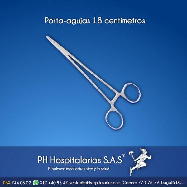 Porta-agujas 18 centímetros Muebles Hospitalarios Acero inoxidable - Pintura electroestática - Somos fabricantes
