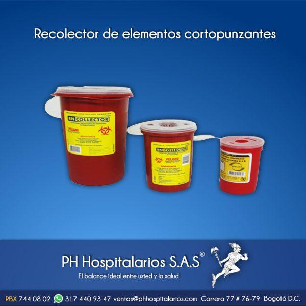 Recolector de elementos cortopunzantes PH Hospitalarios