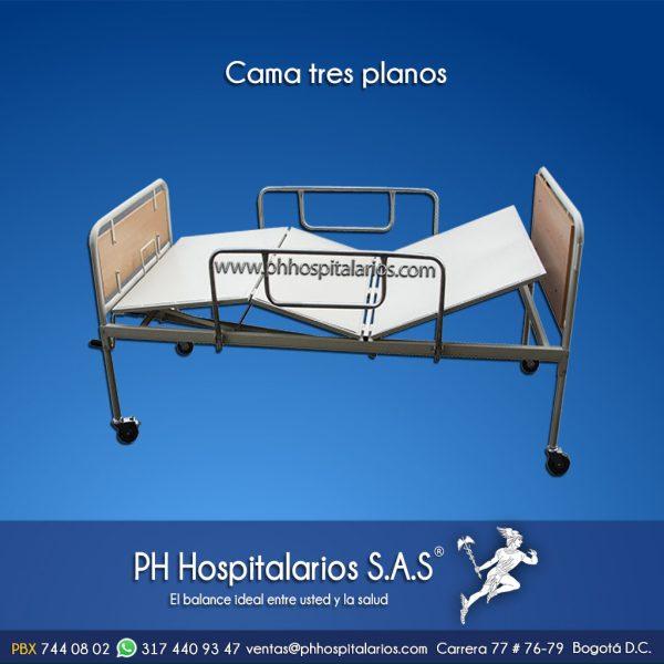 Cama tres planos PH Hospitalarios