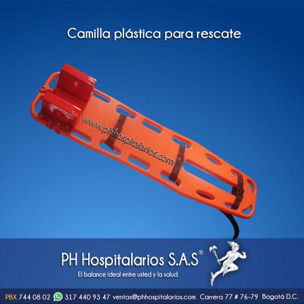 Camilla plástica para rescate PH Hospitalarios