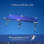 Camilla portátil tipo catre - PH Hospitalarios Acero inoxidable - Pintura electroestática - Somos fabricantes