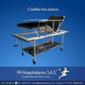 Camilla tres planos PH Hospitalarios