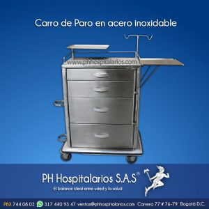 Carro de Paro en acero inoxidable PH Hospitalarios