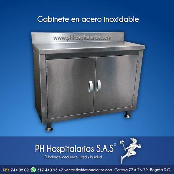 Gabinete en acero inoxidable PH Hospitalarios