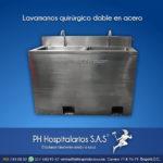 Lavamanos quirúrgico doble en acero inoxidable PH Hospitalarios