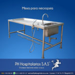 PH Hospitalarios mesa para necropsias - Acero Inoxidable