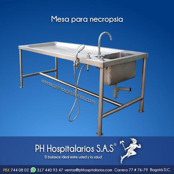 PH Hospitalarios mesa para necropsias - Acero Inoxidable
