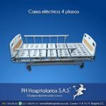 Cama eléctrica 4 planos Muebles Hospitalarios Acero inoxidable - Pintura electroestática - Somos fabricantes