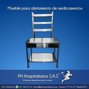 Mueble para alistamiento de medicamentos Muebles Hospitalarios Acero inoxidable - Pintura electroestática - Somos fabricantes