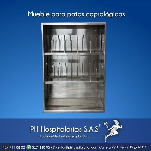 PH Hospitalarios mueble para patos coprológicos acero inoxidable